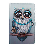 preiswerte Tablet Zubehör-Hülle Für Amazon Kreditkartenfächer Geldbeutel mit Halterung Muster Automatisches Schlafen/Aufwachen Ganzkörper-Gehäuse Eule Hart PU-Leder