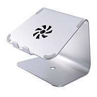 Недорогие Подставки и стенды для MacBook-Устойчивый стенд для ноутбука Macbook Другое для ноутбука Подставка с охлаждающим вентилятором Алюминий Macbook Другое для ноутбука