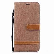 お買い得  携帯電話ケース-ケース 用途 Lenovo K8 Note カードホルダー ウォレット 耐衝撃 フリップ 磁石バックル フルボディーケース 純色 ハード 繊維 TPU のために Lenovo K8 Note