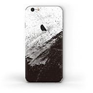 Недорогие Защитные плёнки для экрана iPhone-1 ед. Наклейки для Защита от царапин Черный и белый Узор PVC iPhone 6s/6
