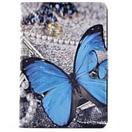 Недорогие Чехлы и кейсы для Samsung Tab-Кейс для Назначение SSamsung Galaxy Tab A 9.7 Бумажник для карт со стендом Флип С узором Авто Режим сна / Пробуждение Чехол Бабочка