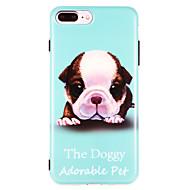 Недорогие Кейсы для iPhone 8-Кейс для Назначение Apple iPhone X iPhone 8 IMD С узором Кейс на заднюю панель С собакой Мягкий ТПУ для iPhone X iPhone 8 Pluss iPhone 8