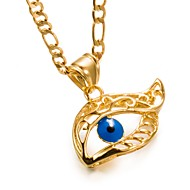 Men's Women's Evil Eye Metallic Fashion Pendant Necklace , Gold Plated Pendant Necklace , Birthday Gift