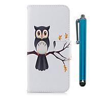 Недорогие Чехлы и кейсы для Galaxy S9 Plus-Кейс для Назначение SSamsung Galaxy S9 S9 Plus Бумажник для карт Кошелек со стендом Флип Магнитный Чехол Сова Твердый Кожа PU ТПУ для S9
