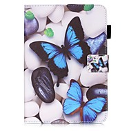 Недорогие Чехлы и кейсы для Samsung Tab-Кейс для Назначение SSamsung Galaxy Tab S2 8.0 Кошелек / Бумажник для карт / со стендом Чехол Бабочка Твердый Кожа PU для Tab S2 8.0