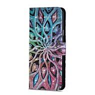 Недорогие Чехлы и кейсы для Galaxy S9 Plus-Кейс для Назначение SSamsung Galaxy S9 S9 Plus Бумажник для карт Кошелек со стендом Флип Магнитный Чехол Цветы Твердый Кожа PU для S9