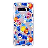 Недорогие Чехлы и кейсы для Galaxy Note 8-Кейс для Назначение SSamsung Galaxy Note 8 Полупрозрачный С узором Кейс на заднюю панель Фрукты Мягкий ТПУ для Note 8