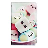Недорогие Чехлы и кейсы для Samsung Tab-Кейс для Назначение Samsung Tab A 8.0 Кошелек / Бумажник для карт / со стендом Чехол Мультипликация Твердый Кожа PU для
