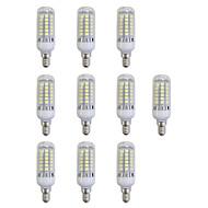 お買い得  LED コーン型電球-10個 5W 420lm E12 / E14 LEDコーン型電球 48 LEDビーズ SMD 5050 LEDライト ホワイト 220-240V