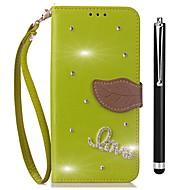 お買い得  携帯電話ケース-ケース 用途 Vivo X20 Plus X20 カードホルダー ウォレット ラインストーン スタンド付き フリップ フルボディーケース 純色 ハード PUレザー のために vivo X20 Plus vivo X20