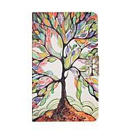 Недорогие Чехлы и кейсы для Samsung Tab-Кейс для Назначение SSamsung Galaxy Tab E 8.0 Бумажник для карт со стендом Флип С узором Авто Режим сна / Пробуждение Чехол дерево Твердый