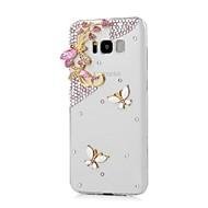 Недорогие Чехлы и кейсы для Galaxy S8 Plus-Кейс для Назначение SSamsung Galaxy Стразы Кейс на заднюю панель Бабочка Твердый ПК для S8 Plus S8 S7 edge S7