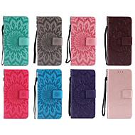Недорогие Чехлы и кейсы для Galaxy S7-Кейс для Назначение SSamsung Galaxy S9 S9 Plus Бумажник для карт Кошелек со стендом Флип С узором Чехол Мандала Твердый Кожа PU для S9
