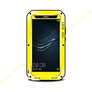 お買い得  携帯電話ケース-ケース 用途 Huawei P9 水/汚れ/ショックプルーフ フルボディーケース 純色 ハード メタル のために Huawei P9 Plus Huawei P9