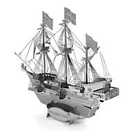 Χαμηλού Κόστους Αξεσουάρ για παιχνίδια και χόμπι-Golden Hind Παζλ 3D Μεταλλικά παζλ Πειρατικό καράβι Focus Παιχνίδι Χειροποίητο Μεταλλικό 1pcs Στητό Στυλ Ναυτικό Jucărie Παιδικά Ενηλίκων
