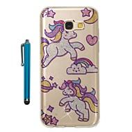 cheap Samsung Accessories-Case For Samsung Galaxy A5(2017) A3(2017) IMD Pattern Glitter Shine Back Cover Unicorn Soft TPU for A3(2017) A5(2017)