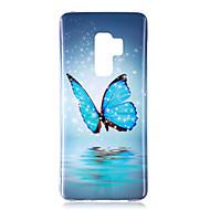 Недорогие Чехлы и кейсы для Galaxy S9-Кейс для Назначение SSamsung Galaxy S9 S9 Plus Сияние в темноте IMD С узором Кейс на заднюю панель Бабочка Блеск Мягкий ТПУ для S9 Plus