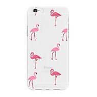 Недорогие Кейсы для iPhone 8-Кейс для Назначение Apple iPhone X iPhone 8 Plus С узором Кейс на заднюю панель Фламинго Мультипликация Мягкий ТПУ для iPhone X iPhone 8
