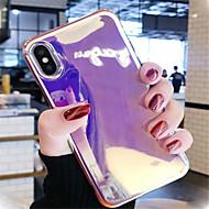 Недорогие Кейсы для iPhone 8-Кейс для Назначение Apple iPhone X / iPhone 7 Plus Покрытие / С узором Кейс на заднюю панель Однотонный Мягкий ТПУ для iPhone X / iPhone 8 Pluss / iPhone 8