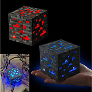 abordables Figuras de acción y Modelos-Minecraft Night light LED Figure Toys Anime y manga Romance Plástico ABS de Clase A Regalo 1pcs