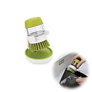 abordables Escobillas y cepillos de mano-Alta calidad 1pc Silicona Cepillo y Trapo de Limpieza Cocina creativa Gadget Multifunción, Cocina Limpiando suministros