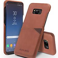 Недорогие Чехлы и кейсы для Galaxy S8 Plus-Кейс для Назначение SSamsung Galaxy S8 Plus S8 Бумажник для карт Защита от удара Кейс на заднюю панель Сплошной цвет Твердый Настоящая