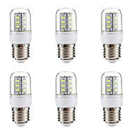 お買い得  LED コーン型電球-BRELONG® 6本 3W 270lm E14 E26 / E27 LEDコーン型電球 24 LEDビーズ SMD 5730 温白色 ホワイト 220-240V
