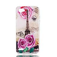 お買い得  携帯電話ケース-ケース 用途 LG V30 Q6 パターン バックカバー エッフェル塔 ソフト TPU のために LG X Style LG X Power LG V30 LG Q6 LG K10 LG K8