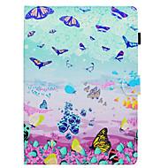 Недорогие Чехлы и кейсы для Samsung Tab-Кейс для Назначение SSamsung Galaxy Tab S2 9.7 Бумажник для карт со стендом Флип С узором Авто Режим сна / Пробуждение Чехол Бабочка