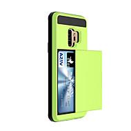 Недорогие Чехлы и кейсы для Galaxy S9-Кейс для Назначение SSamsung Galaxy S9 S9 Plus Бумажник для карт Кейс на заднюю панель Сплошной цвет Твердый пластик для S9 Plus S9 S8