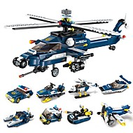 Building Blocks 381 pcs Stress and Anxiety Relief Parent-Child Interaction Decompression Toys Helicopter Fighter Adults' Gift