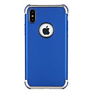 Недорогие Кейсы для iPhone 8-Кейс для Назначение Apple iPhone X iPhone 8 Защита от удара Покрытие Кейс на заднюю панель Сплошной цвет Мягкий ТПУ для iPhone X iPhone 8