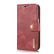 お買い得  -ケース 用途 Samsung Galaxy S7 カードホルダー スタンド付き フリップ フルボディーケース 純色 ハード 本革 のために S7