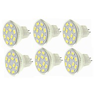 abordables Spots LED-SENCART 6pcs 6W 450lm G4 MR11 Spot LED MR11 12 Perles LED SMD 5730 Décorative Blanc Chaud Blanc Froid 12-24V
