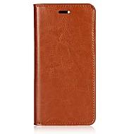お買い得  携帯電話ケース-ケース 用途 Xiaomi Mi 6 カードホルダー / スタンド付き / フリップ フルボディーケース ソリッド ハード 本革 のために Xiaomi Mi 6
