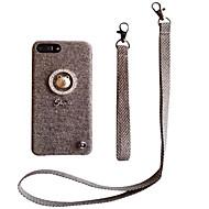 Недорогие Кейсы для iPhone 8-Кейс для Назначение Apple iPhone X iPhone 7 Plus С узором Кейс на заднюю панель Однотонный Твердый текстильный для iPhone X iPhone 8