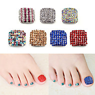 Two-piece Suit nail art False Nail Tips Bling Bling Rhinestone Style Cake Jewelry