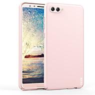 お買い得  携帯電話ケース-ケース 用途 Huawei nova 2s 耐衝撃 バンカーリング バックカバー 純色 ハード プラスチック のために Huawei nova 2s
