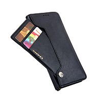 Недорогие Чехлы и кейсы для Galaxy S9-Кейс для Назначение SSamsung Galaxy S9 S9 Plus Бумажник для карт Кошелек Флип Чехол Однотонный Твердый Кожа PU для S9 Plus S9 S8 Plus S8