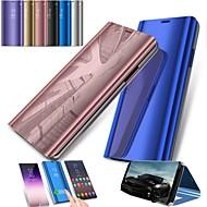 Недорогие Чехлы и кейсы для Galaxy S9-Кейс для Назначение SSamsung Galaxy S9 S9 Plus со стендом Зеркальная поверхность Чехол Сплошной цвет Твердый ПК для S9 Plus S9 S8 Plus S8