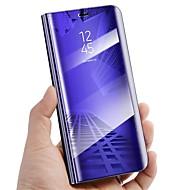 Недорогие Чехлы и кейсы для Galaxy S6 Edge Plus-Кейс для Назначение SSamsung Galaxy S9 S9 Plus со стендом Зеркальная поверхность Флип Авто Режим сна / Пробуждение Чехол Сплошной цвет