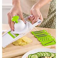 お買い得  キッチン用小物-1個 キッチンツール プラスチック 多機能 カッター&スライサー フルーツのための / 野菜のための
