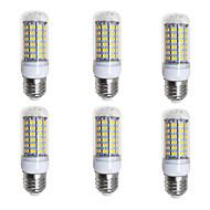 お買い得  LED コーン型電球-BRELONG® 6本 4W 400lm E26 / E27 LEDコーン型電球 69 LEDビーズ SMD 5730 温白色 ホワイト 200-240V