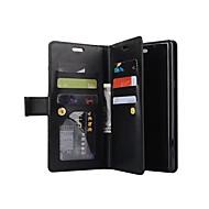 Недорогие Чехлы и кейсы для Galaxy Note-Кейс для Назначение SSamsung Galaxy Note 8 Бумажник для карт Кошелек со стендом Чехол Сплошной цвет Твердый Кожа PU для Note 8