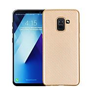 Недорогие Чехлы и кейсы для Galaxy A3(2016)-Кейс для Назначение SSamsung Galaxy A8 2018 A8 Plus 2018 Ультратонкий Кейс на заднюю панель Сплошной цвет Мягкий ТПУ для A3 (2017) A5