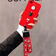Недорогие Кейсы для iPhone 8 Plus-Кейс для Назначение Apple iPhone X iPhone 7 Plus С узором Кейс на заднюю панель Рождество Мягкий текстильный для iPhone X iPhone 8 Pluss