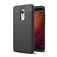 olcso Mobiltelefon tokok-Case Kompatibilitás Xiaomi Redmi 5 Plus Redmi Note 4X Ütésálló Fekete tok Tömör szín Puha TPU mert Xiaomi Redmi Note 4X Xiaomi Redmi 5