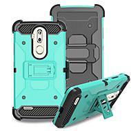 お買い得  携帯電話ケース-ケース 用途 ZTE Nubia Z17 mini 耐衝撃 スタンド付き バックカバー 純色 ハード PC のために Grand