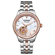 abordables Relojes Mecánicos-CADISEN Reloj Casual Reloj de Moda Emisores Resistente al Agua, Reloj Casual Blanco / Plata / Oro Rosa / Blanco / Acero Inoxidable / Japonés / Cuerda Automática / Japonés