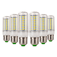 お買い得  LED コーン型電球-YWXLIGHT® 6本 7W 600-700lm E14 E26 / E27 LEDコーン型電球 72 LEDビーズ SMD 5730 装飾用 温白色 クールホワイト 220-240V